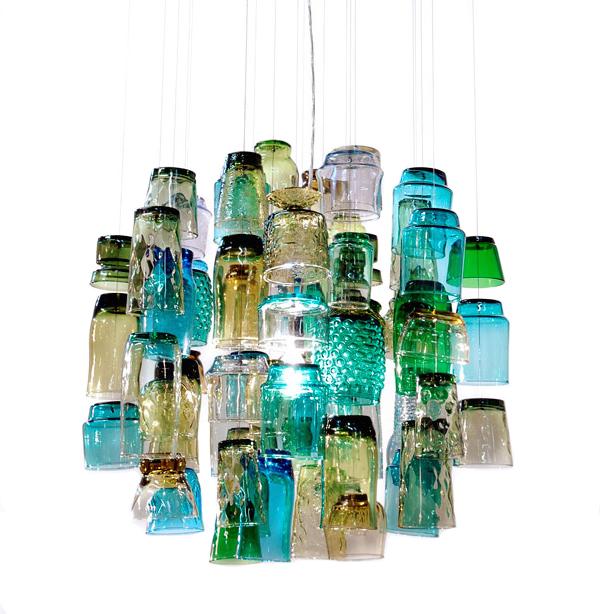 Bespoke-chandelier-made-from-repurposed-glasses