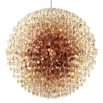 Chandelier made from tinted spectacle lenses by Stuart Haygarth