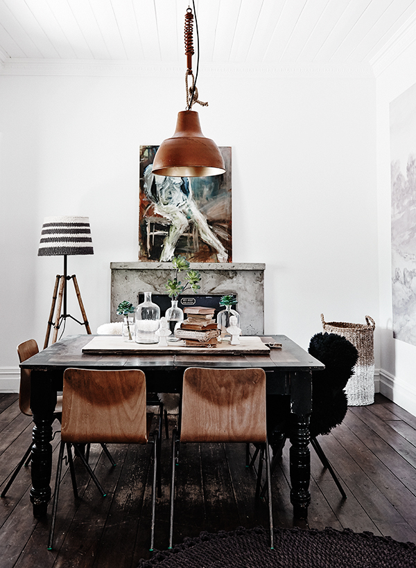 Contemporary dining space