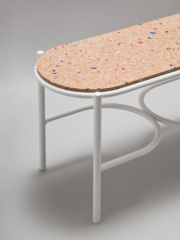 Cork bench by Swedish Ninja at London Design Fair