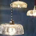 Lights made from repurposed crystal bowls