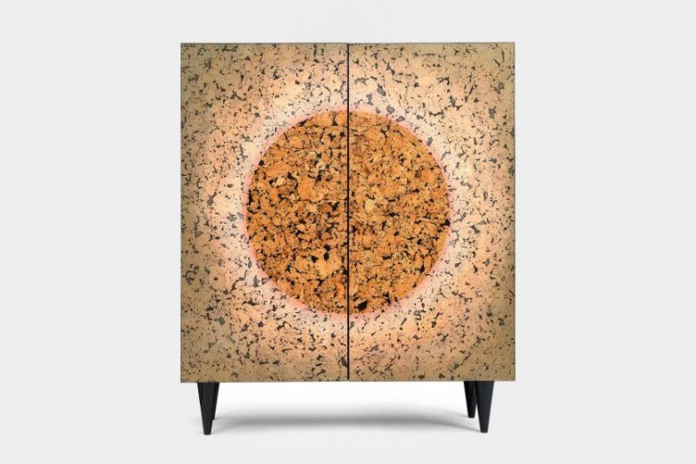 Mandala cabinet by Migaloo made from cork