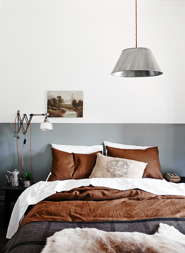 Modern neutral colours in the bedroom