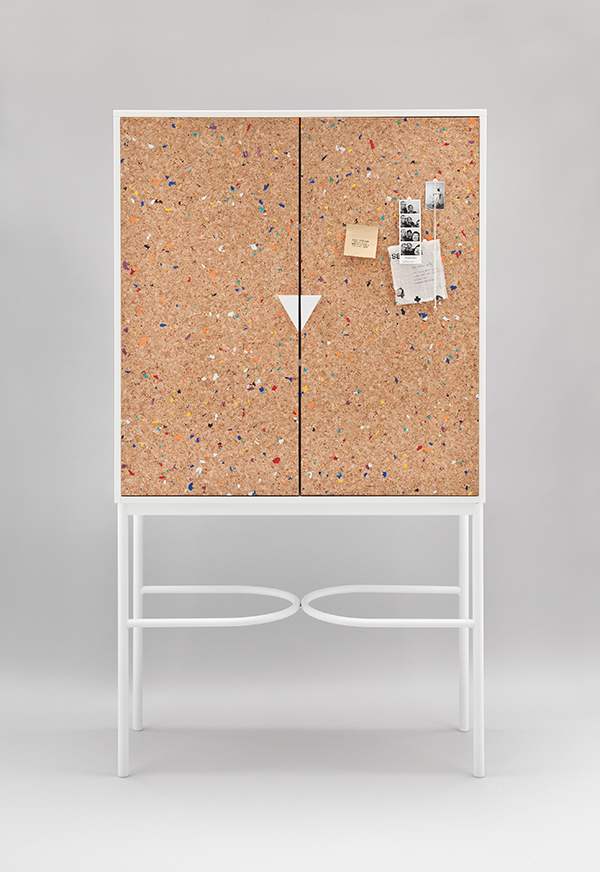 Notebook cork cabinet by Swedish Ninja