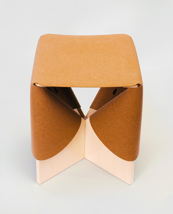 Seat by Cuco made from cork composite