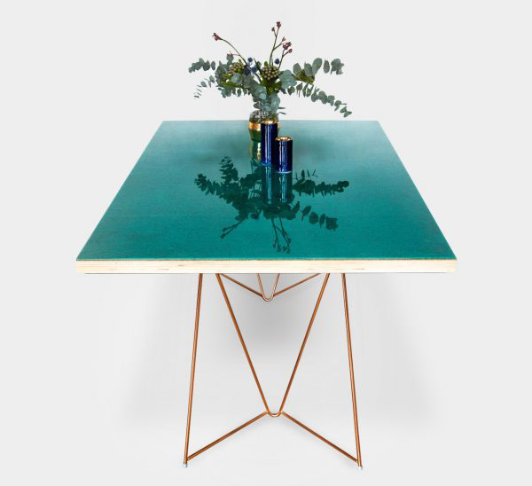 Table made from cork and resin by Migaloo at London Design Festival