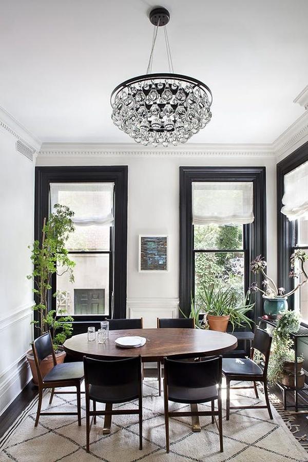Black painted window trim