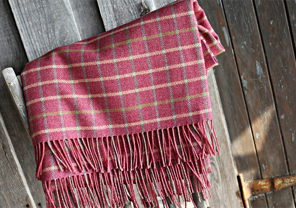 Cumberland British made wool and cotton throw by Anta