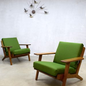 Midcentury vintage green chairs
