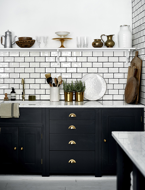 Neptune Suffolk kitchen painted in black charcoal paint