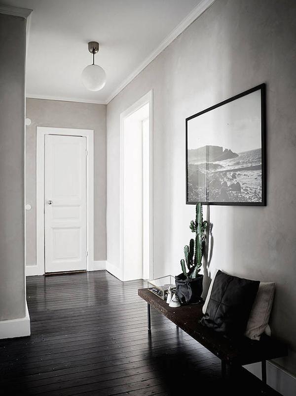 black floorboards