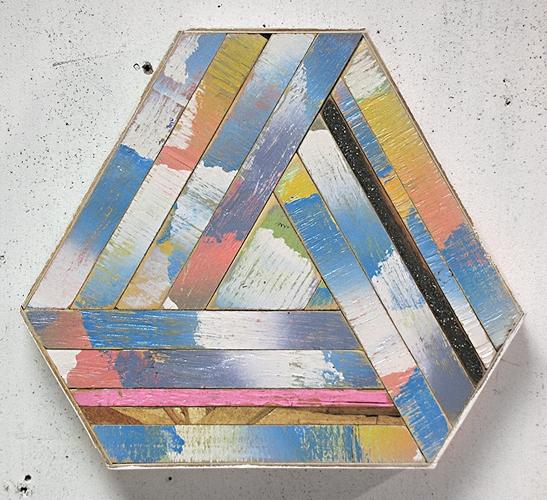 scrap wood sculpture by Aaron S Moran