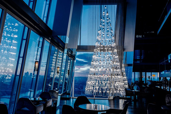 Aqua Shard Christmas tree