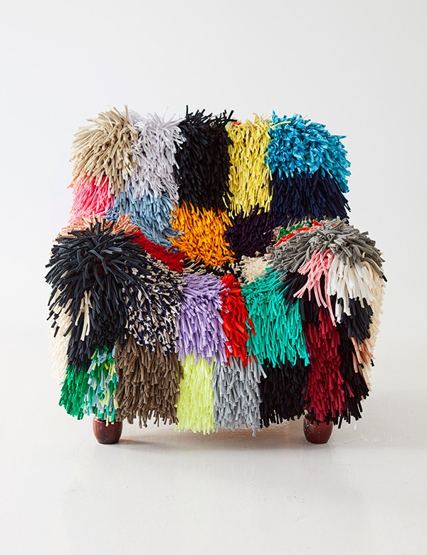 Big Ragamuf chair cover made from recycled textile waste