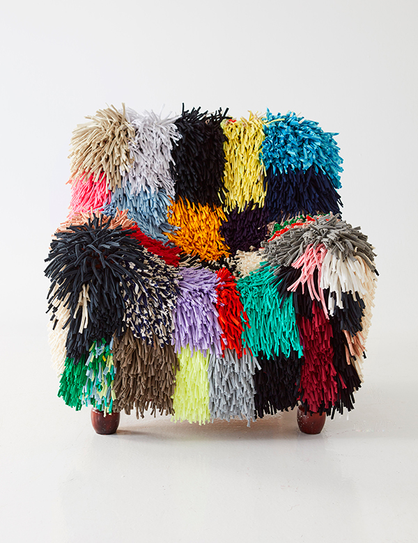 Big Ragamuf chair cover made from textile waste