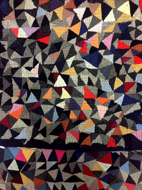 Colourful Confetti rag rug by Brieditis and Evans