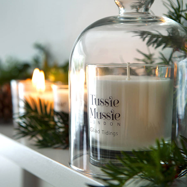 Glad Tidings festive scented candles by Tussie Mussie