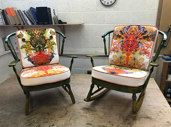 Rocking chairs by Ray Clarke upholstery