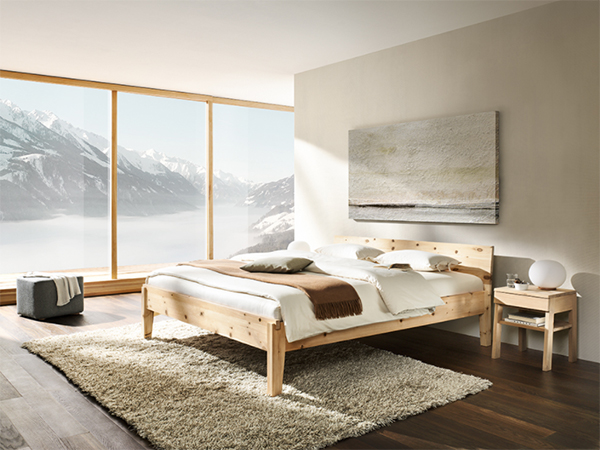 Alpina bed frame by eco friendly furniture brand Grune Erde