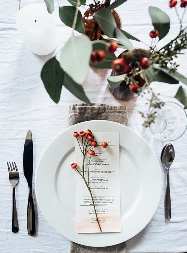 Berries table setting