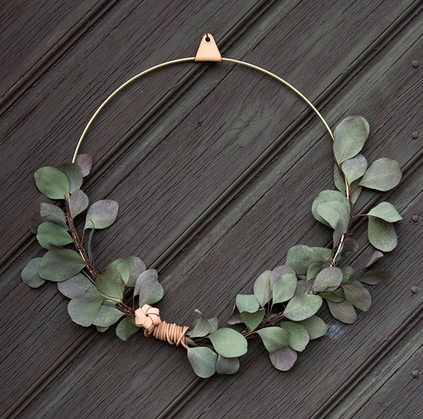 Brass ring wreath by Strups