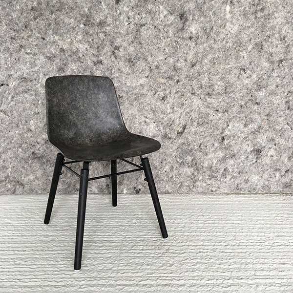 Chair made from wool and bioresin by Solid Wool