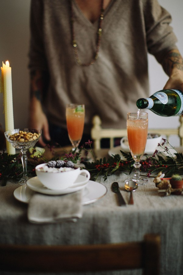 Christmas table with natural decorations