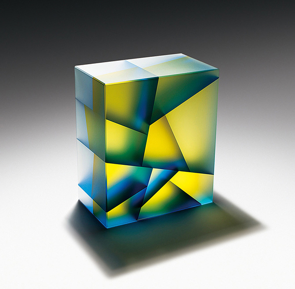 Cubic glass sculpture by Jiyong Lee