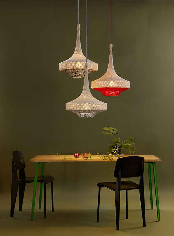 Gluck contemporary pendant light by Naomi Paul in situ