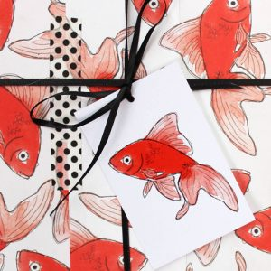 Goldfish wrapping paper by Blank Inside