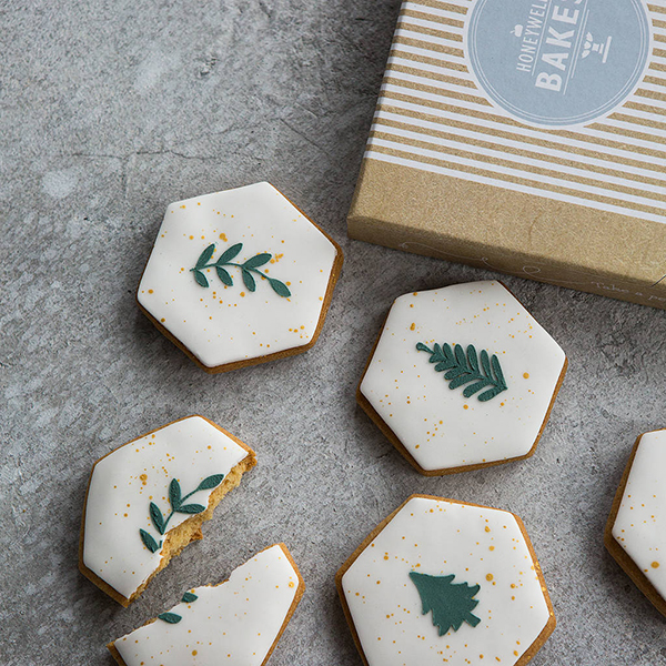 Minimalist Christmas biscuits by Honeywell Bakes