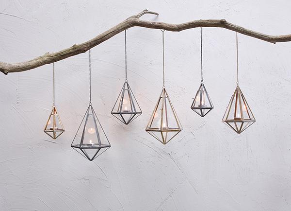 Mokomo hanging lantern by Nkuku