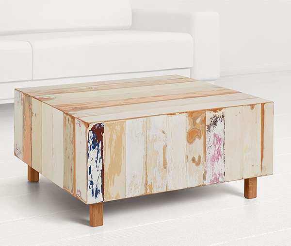 Reclaimed wood coffee table by Geyersbach