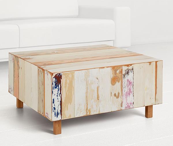 Reclaimed wood coffee table by Geyersbach