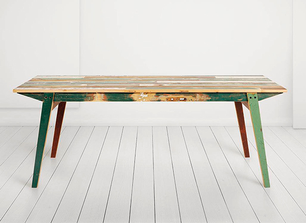 Reclaimed wood dining table by Geyersbach
