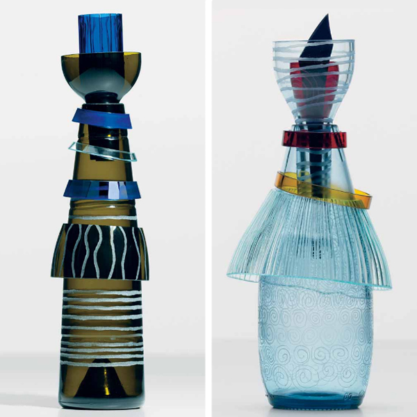 Reworked glass sculpture by Sabine Mescher-Leitner