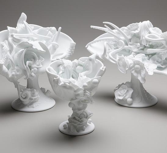 Sculpture by glass artist Amber Cowan