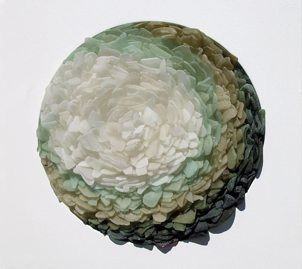 Sea glass contemporary sculpture