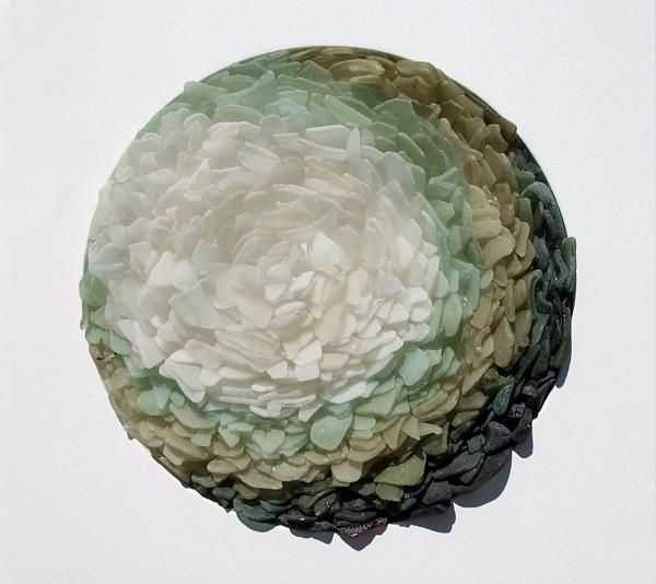 Sea glass contemporary sculpture