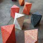 Delta stool made from recycled materials by Ecopixel