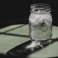 Mason jar of water and ice
