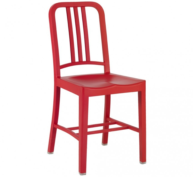 Navy 111 Chair Red by Emeco
