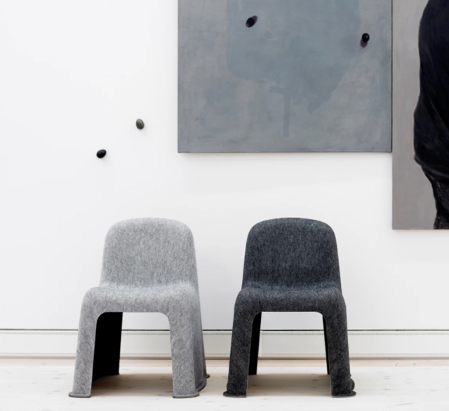 Nobody recycled PET felt chair by Hay