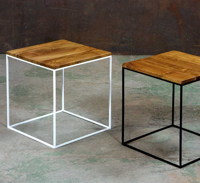 Reclaimed teak side table by Dwellers Furniture