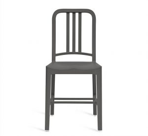Recycled PET Navy 111 chair in charcoal