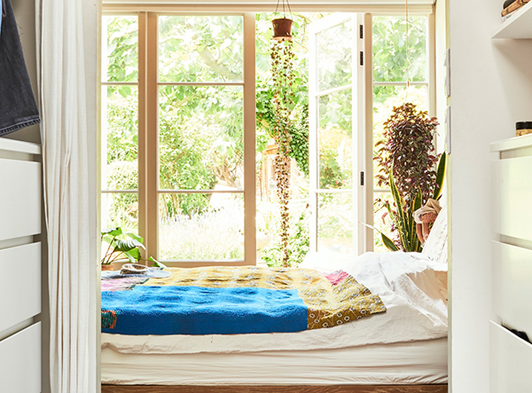 Beautiful bedroom window