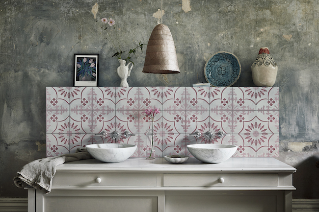 Bert and May Bolonia tiles styled with vintage accents