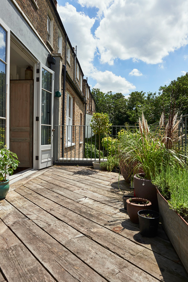 Outdoor space East London home