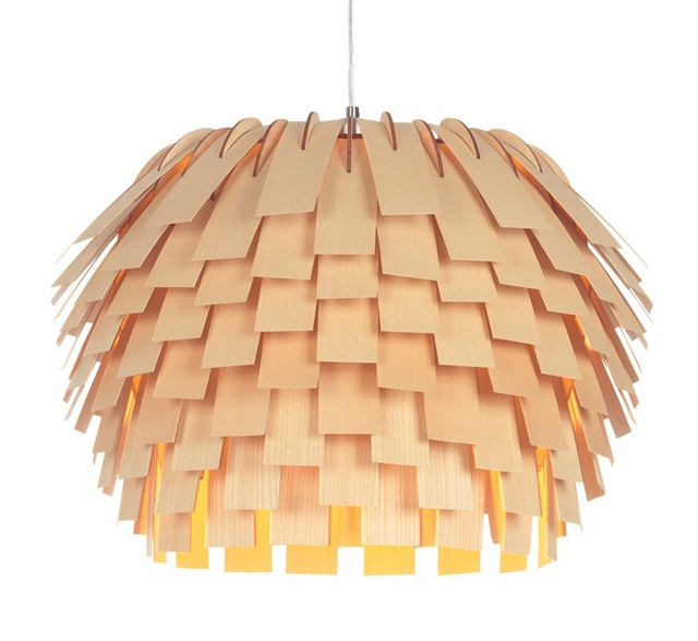 Scots pendant light by Tom Raffield made from FSC wood