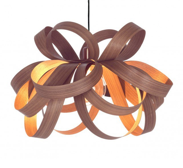 Skipper pendant light by Tom Raffield FSC wood